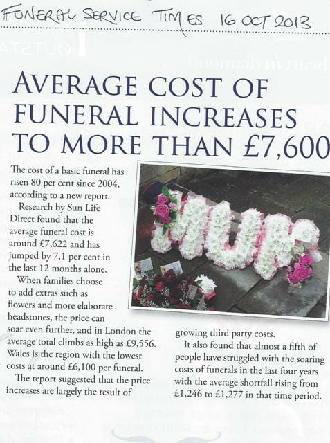 FST Funeral Prices