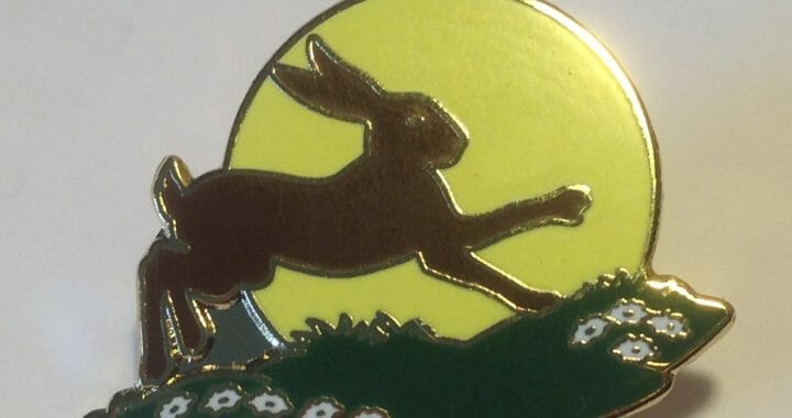 The Friends of Sun Rising Hare Lapel Pin