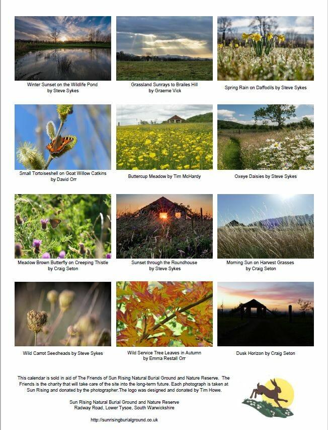 Friends of Sun Rising Calendar (Back Cover)
