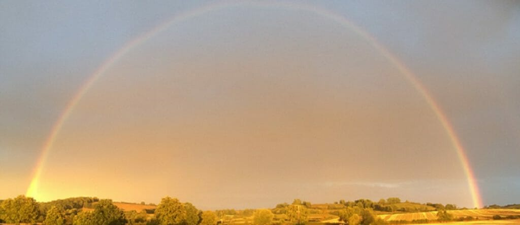 Rainbow over Tysoe Hill