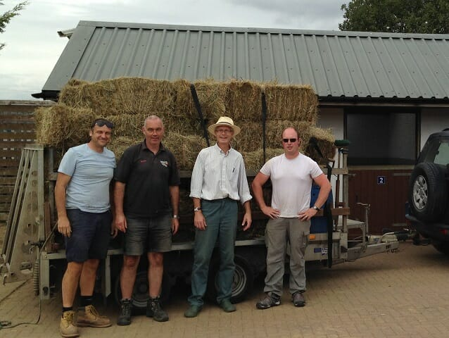 Jamie, Tom, David and Chris, with our Bales at Redwings