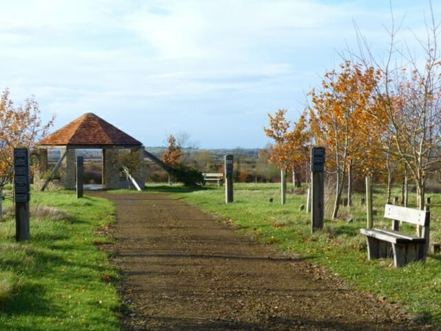 Track to the Roundhouse in Autumn at Sun Rising Natural Burial Ground and Nature Reserve