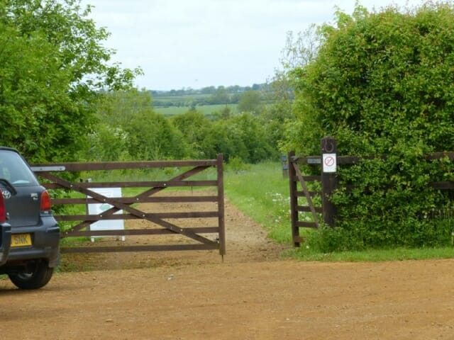 Gate from Car Park to the Cabin at Sun Rising Natural Burial Ground and Nature Reserve