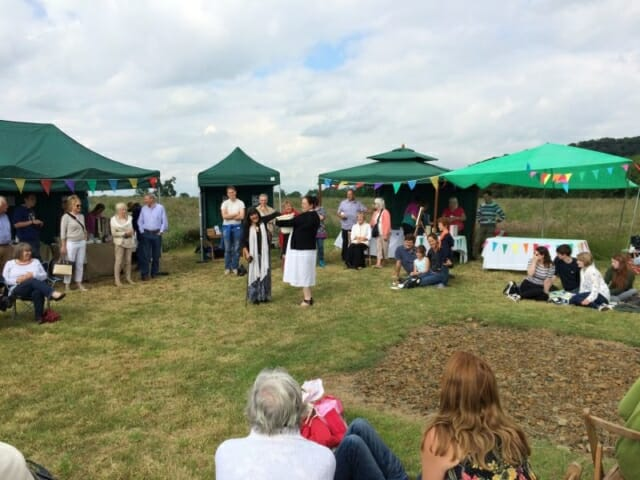 Drawing the Raffle at Sun Rising Natural Burial Ground and Nature Reserve