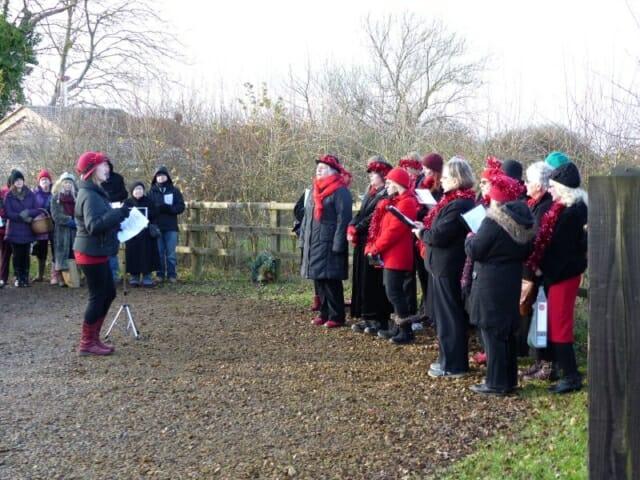 Carol Singers at Sun Rising Natural Burial Ground and Nature Reserve