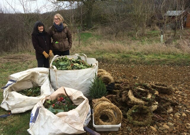 Wreaths Dismantled and Sorted, 6 January 2019
