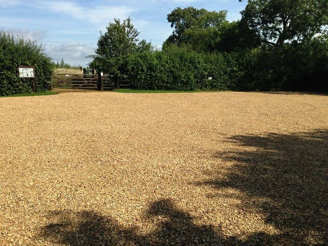 Main Car Park Resurfaced with Gold Gravel