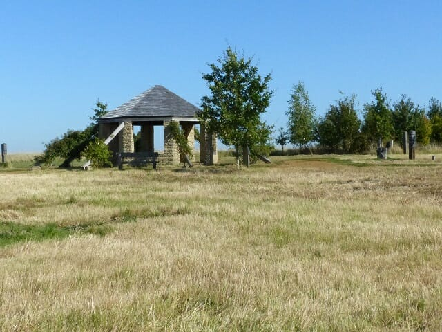 The Roundhouse across Betty's Meadow, Mown