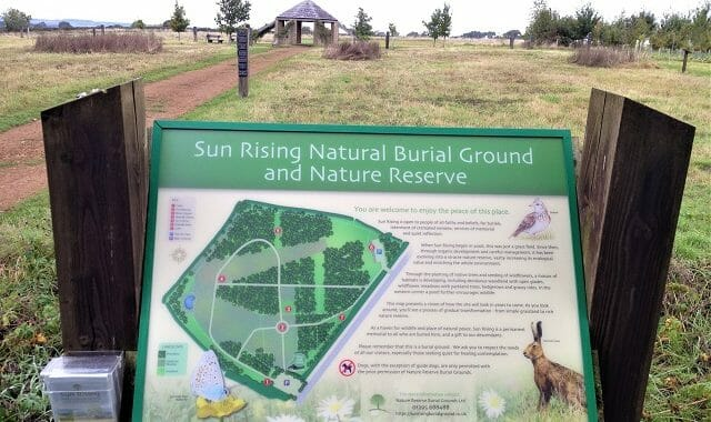 New Interpretation Board at Sun Rising, 2019