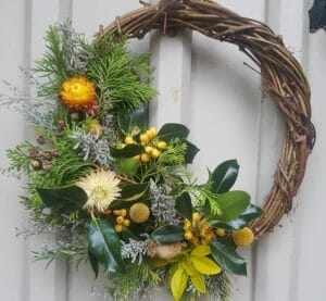 Wreath by Wilderness Wildflowers