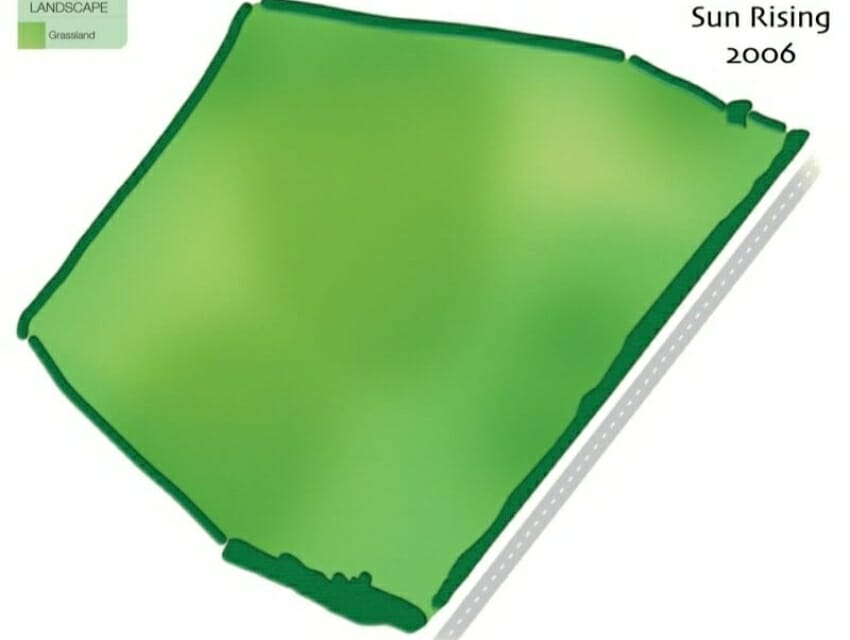 Map of Sun Rising in 2006.